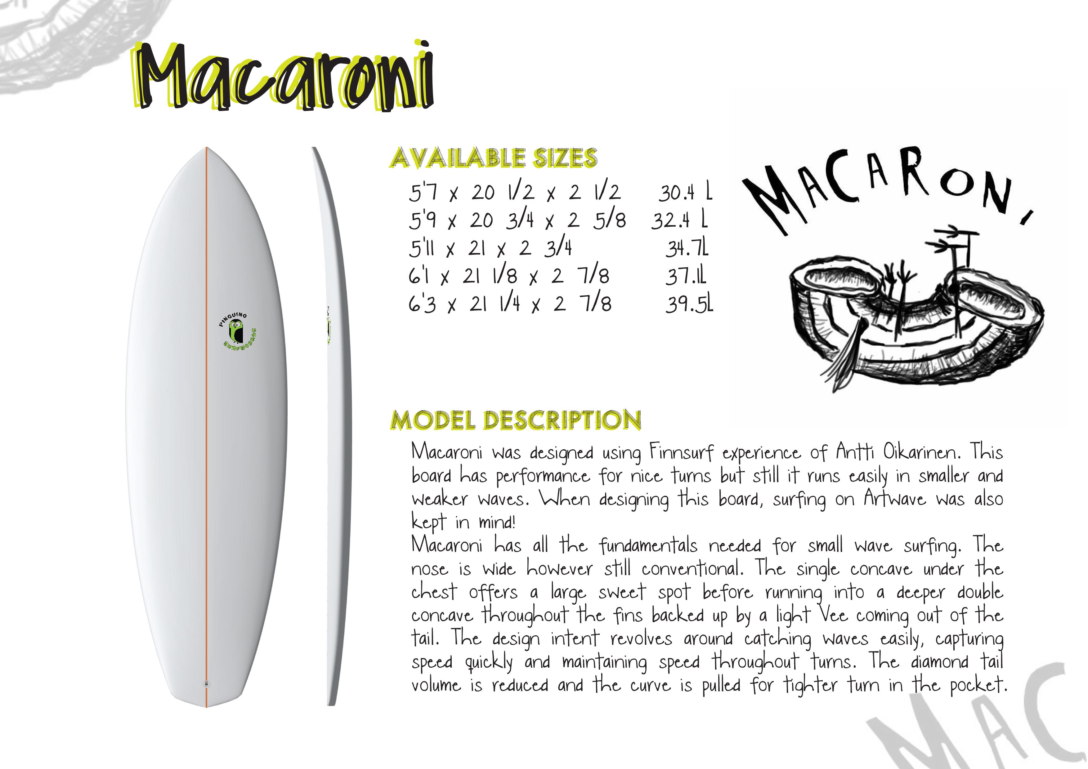 catalog macaroni